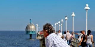 Seebrücke Zinnowitz mit Tauchgoldel / 3D Kino