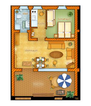 Haus Typ 1 - Erdgeschoss