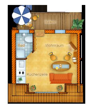 Haus Typ 1 - Obergeschoss