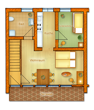 Haus Typ II - Erdgeschoss