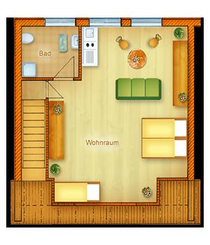Haus Typ II - Obergeschoss